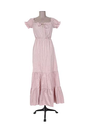 Robe longue rose ANGELA DAVIS pour femme