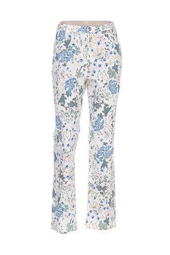 i.quing pantalons femme de couleur bleu