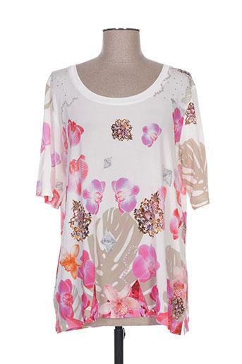 fuegolita t-shirts femme de couleur beige