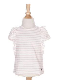 T-shirt manches courtes rose CARREMENT BEAU pour fille
