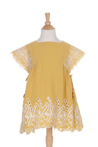 louise misha robes fille de couleur jaune