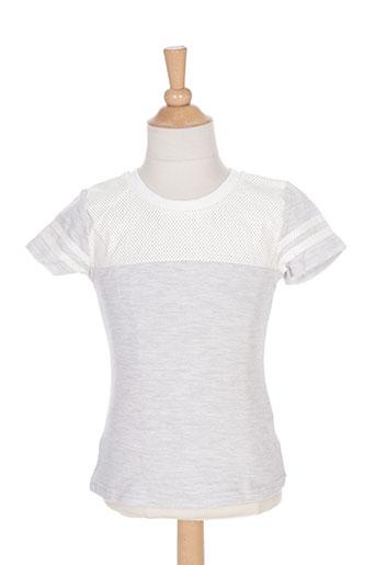 mini mignon t-shirts fille de couleur gris