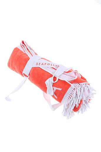 seafolly accessoires femme de couleur orange