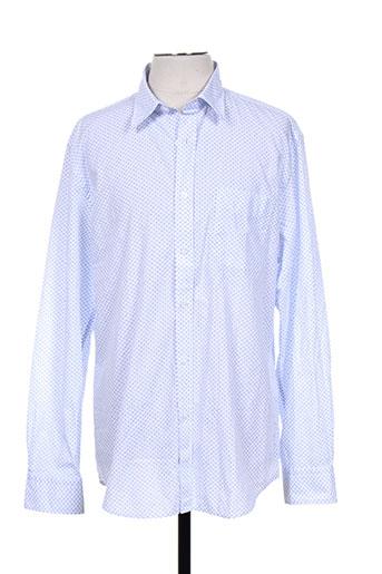 kiwi chemises homme de couleur bleu
