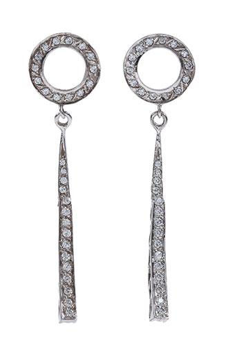 Boucles d'oreilles gris AMBROSIA PARIS pour femme