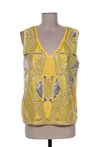 miss koo chemises femme de couleur jaune
