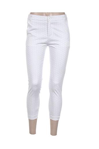 Pantalon casual bleu CHIC ETJEUNE pour femme