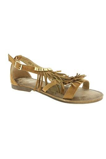 sinly shoes chaussures femme de couleur marron