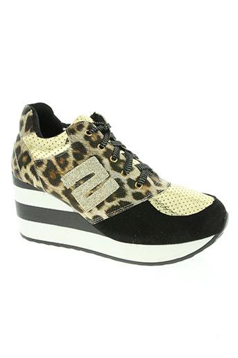 sergio tacchini chaussures femme de couleur noir