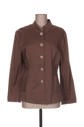 coco menthe vestes femme de couleur marron