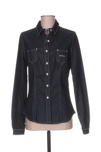 vertigo chemises femme de couleur noir
