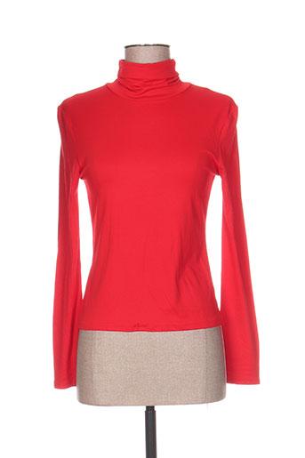 blus&blus pulls femme de couleur rouge