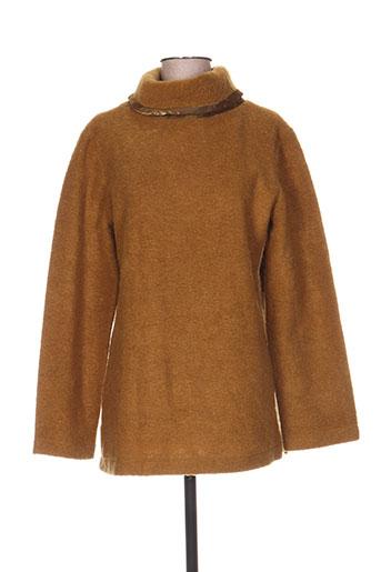 coco menthe pulls femme de couleur marron