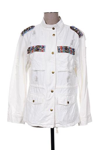 miss koo vestes femme de couleur blanc