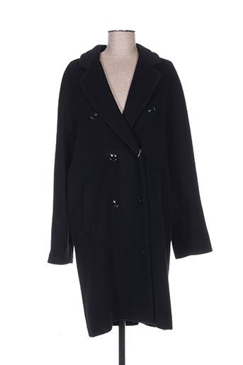 armani manteaux femme de couleur noir