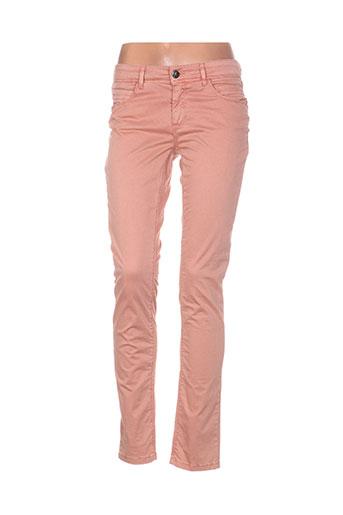 Pantalon casual rose STREET ONE pour femme