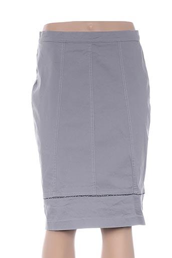 Jupe mi-longue gris FILIPINE LAHOYA pour femme