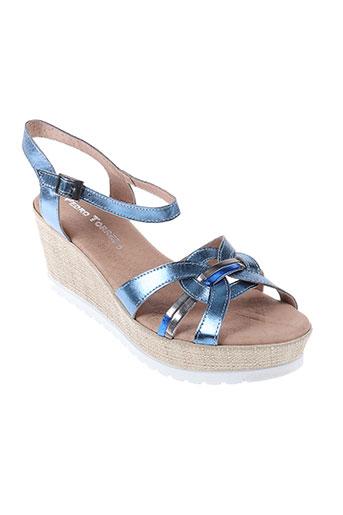 pedro torres chaussures femme de couleur bleu