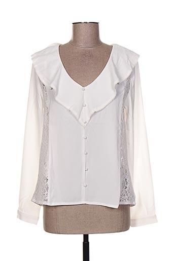 sweewë chemises femme de couleur blanc