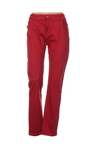Pantalon casual rouge EVADOR'S pour femme