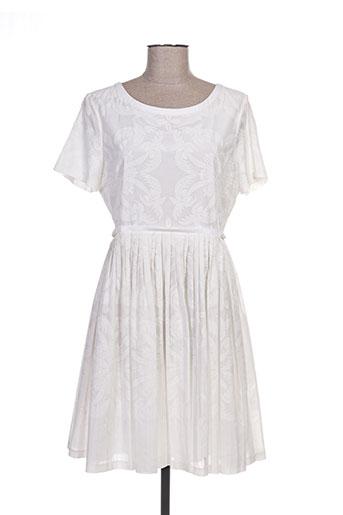 paul smith robes femme de couleur blanc