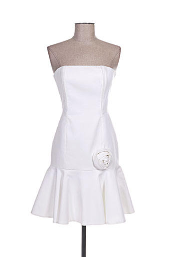 paul ka robes femme de couleur blanc