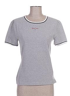 T-shirt manches courtes gris CAPUCINE PUERARI pour femme