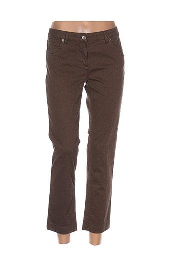 Pantalon 7/8 marron HENRY COTTON'S pour femme