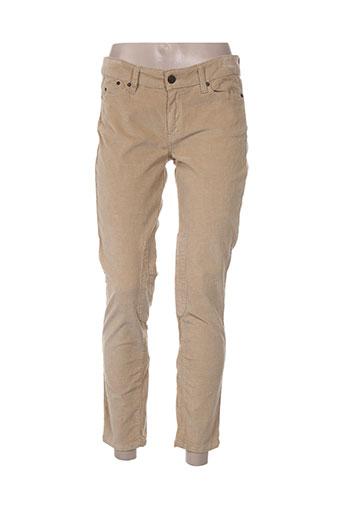 Pantalon 7/8 beige CORLEONE pour femme