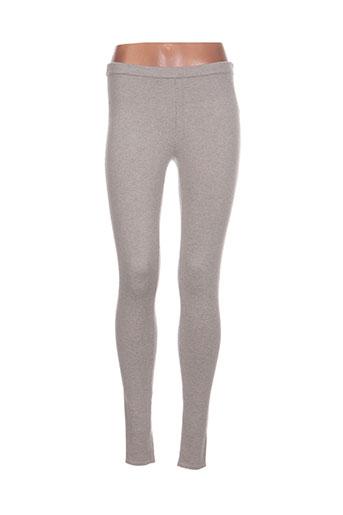 bobi pantalons femme de couleur gris