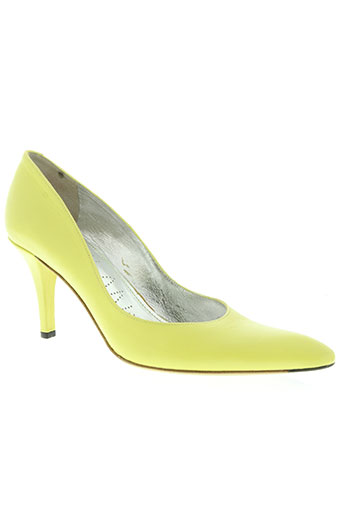 free lance chaussures femme de couleur jaune
