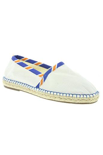 escadrille chaussures homme de couleur blanc