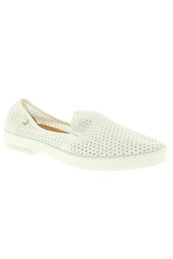 rivieras chaussures homme de couleur blanc