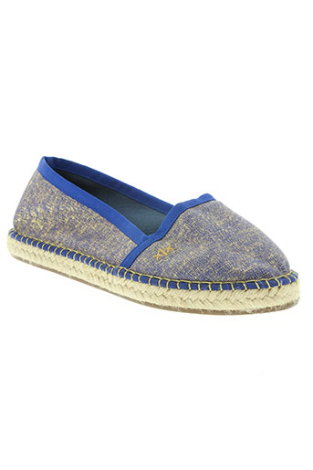escadrille chaussures femme de couleur bleu