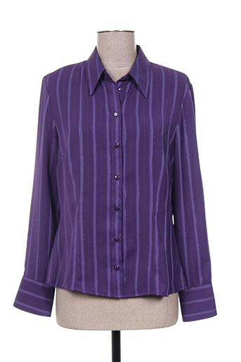 fosby chemises femme de couleur violet