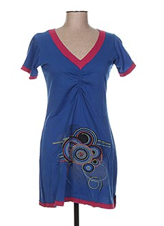Tunique manches courtes bleu ALLER SIMPLEMENT pour femme