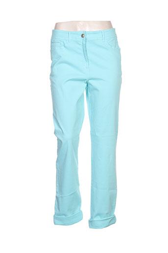 pause cafe pantalons femme de couleur bleu