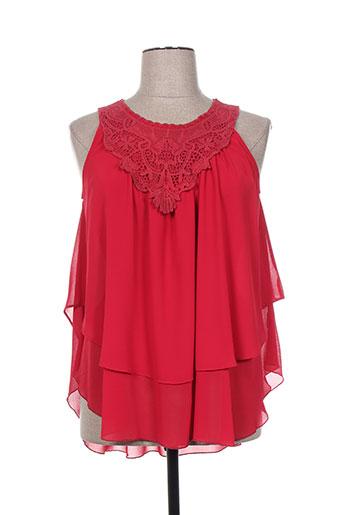 oltre tempo chemises femme de couleur rouge