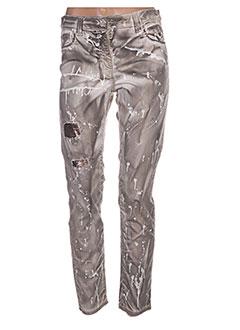 Pantalon casual gris DANIELA DALLAVALLE pour femme