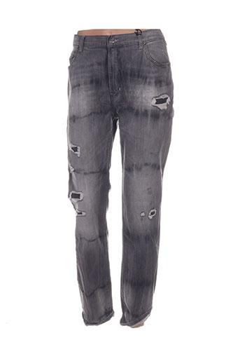 nvy denim pantalons femme de couleur gris