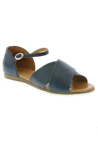apple of eden chaussures femme de couleur bleu