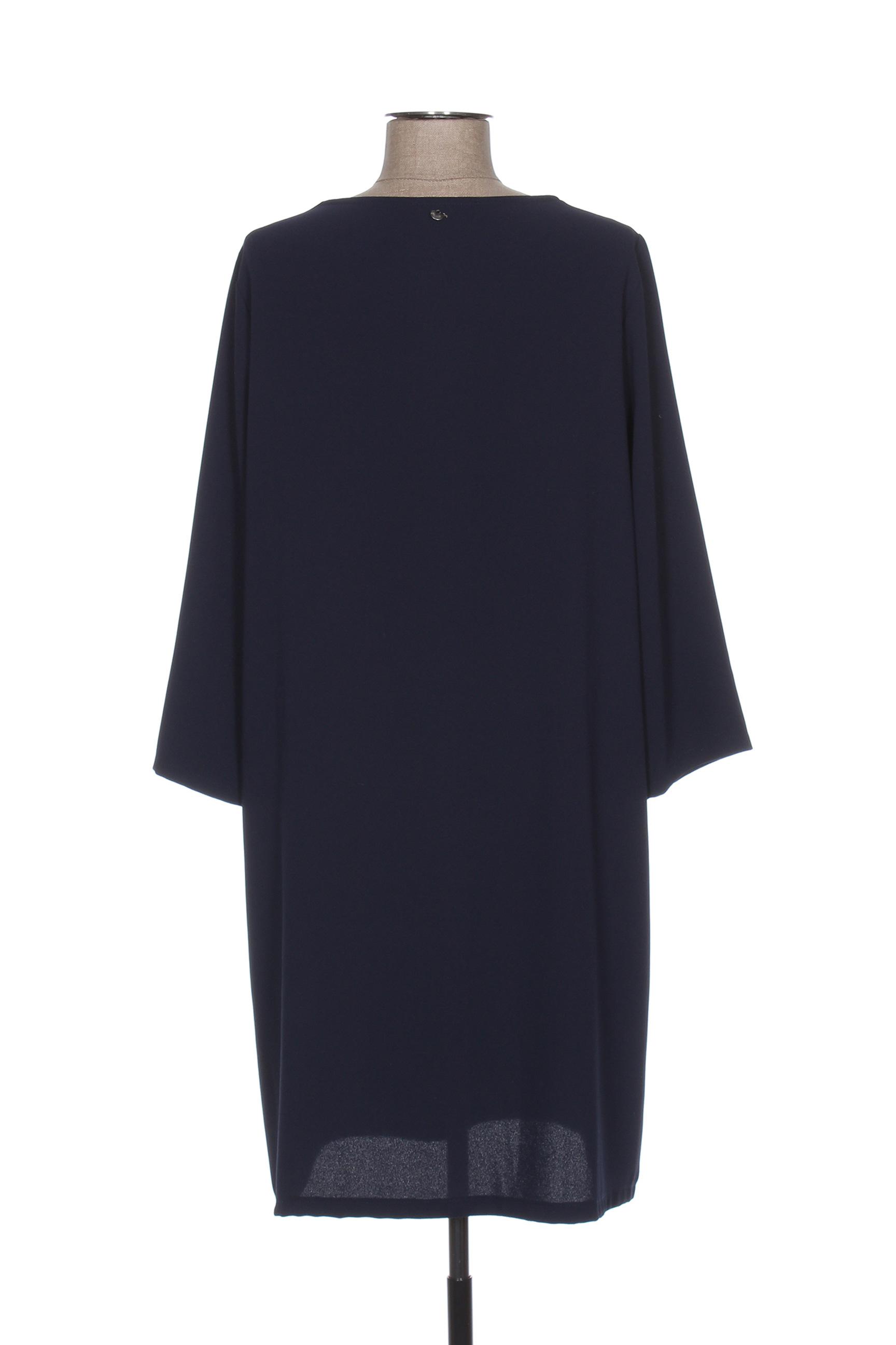 Le Phare De La Baleine Robes Mi Longues Femme Couleur Bleu En Soldes Pas Cher 1279323-bleu00
