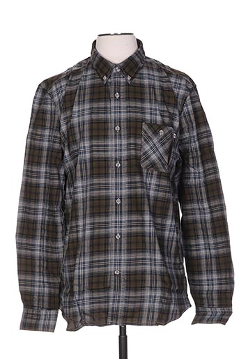 Chemise manches longues vert TIMBERLAND pour homme