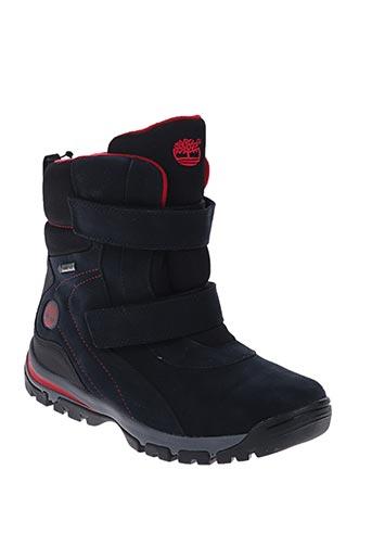 timberland chaussures garçon de couleur noir