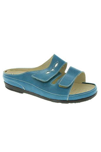 pedi green chaussures femme de couleur bleu