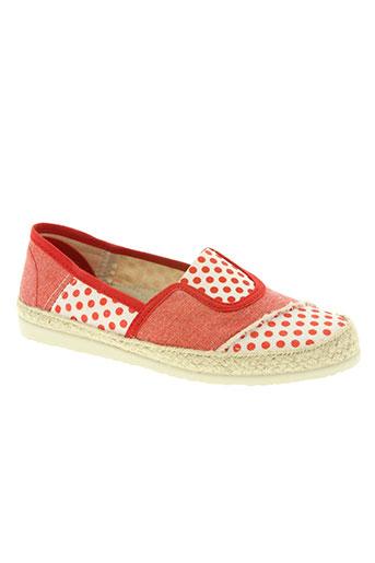 soir et matin chaussures femme de couleur rouge