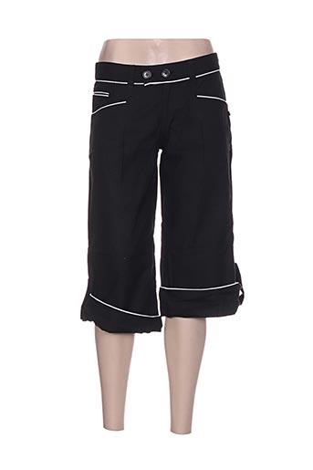 bamboo's pantacourts femme de couleur noir