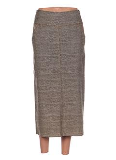 Jupe longue gris HELENA SOREL pour femme