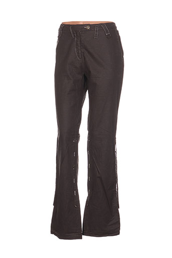 la belle histoire pantalons femme de couleur marron
