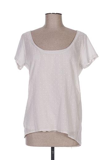 alpha studio t-shirts femme de couleur beige